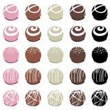 Caramelle di cioccolato per il dessert Fotografia Stock Libera da Diritti