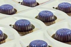 Caramelle di cioccolato in una casella immagine stock