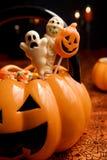 Caramelle di Halloween Fotografie Stock