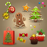 Caramelle di Natale Fotografia Stock