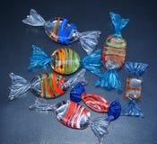 Caramelle di vetro decorative Immagine Stock Libera da Diritti