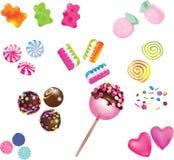 Caramelle dolci sparse Immagine Stock Libera da Diritti