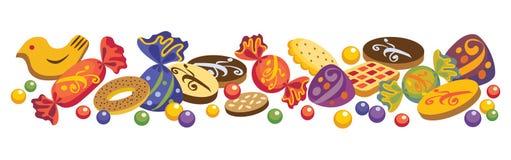 Caramelle e biscotti Immagine Stock