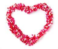 Caramelle a forma di del cuore Immagine Stock Libera da Diritti