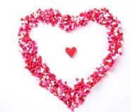 Caramelle a forma di del cuore Fotografia Stock Libera da Diritti
