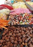Caramelle nel mercato Fotografia Stock
