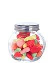 Caramelle nel vaso di vetro Immagini Stock Libere da Diritti