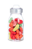 Caramelle nel vaso di vetro Fotografia Stock Libera da Diritti