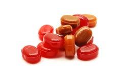 Caramelle rosse Fotografie Stock