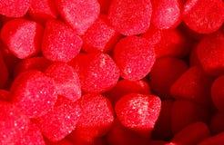 Caramelle rosse dolci Fotografie Stock Libere da Diritti