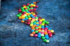 Caramelle rotonde variopinte Fotografia Stock Libera da Diritti