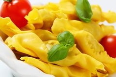 Caramelle shaped stuffed pasta Royalty Free Stock Image