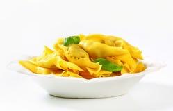 Caramelle shaped stuffed pasta Royalty Free Stock Photo