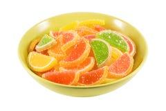 Caramelle variopinte della gelatina di frutta Fotografie Stock