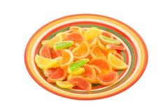 Caramelle variopinte della gelatina di frutta Fotografia Stock