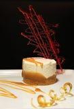 Caramello della torta di formaggio Fotografia Stock