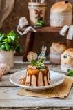Caramello Quark Paskha immagine stock libera da diritti