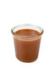 Caramello salato in un barattolo fotografia stock