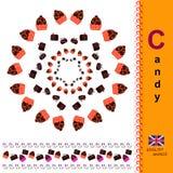 Caramelo Alfabeto inglés ABC Fotografía de archivo