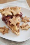 Caramelo Apple Cherry Cake Imagem de Stock