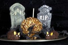Caramelo Apple con los ratones del chocolate Foto de archivo libre de regalías