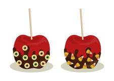 Caramelo Apple Halloween stock de ilustración
