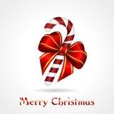 Caramelo-bastón de la Navidad Fotografía de archivo
