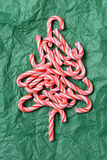 Caramelo Cane Christmas Tree Imagen de archivo
