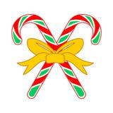 Caramelo Cane Cross Gift Illustration de la Navidad Foto de archivo libre de regalías