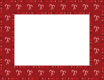 Caramelo Cane Frame de la Navidad Fotografía de archivo libre de regalías