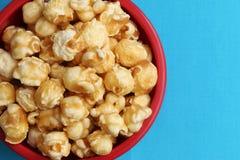 Caramelo Carmel Popcorn foto de archivo