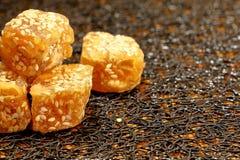 Caramelo chino del sésamo Foto de archivo libre de regalías