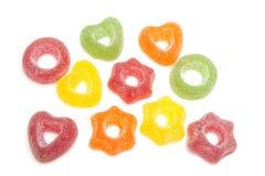 Caramelo coloreado con el azúcar Foto de archivo libre de regalías