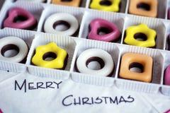 Caramelo coloreado la Navidad Concepto de la Feliz Navidad Imagen de archivo libre de regalías
