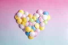 Caramelo coloreado multi del platillo volante Fotografía de archivo libre de regalías