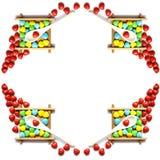 Caramelo colorido de la forma del corazón Fotografía de archivo libre de regalías