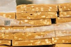 Caramelo com amendoins Imagens de Stock Royalty Free
