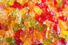 Caramelo convertido en gelatina coloreado Foto de archivo libre de regalías