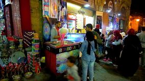 Caramelo de algodón en El Cairo, Egipto metrajes