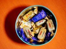 Caramelo de Bucuria hecho en el Moldavia Imagen de archivo
