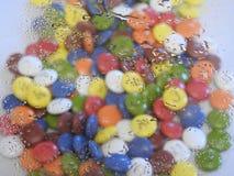 Caramelo de chocolate colorido foto de archivo