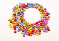Caramelo de chocolate multicolor Imágenes de archivo libres de regalías