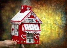Caramelo de la casa para la Navidad Fotografía de archivo libre de regalías