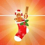 Caramelo de la Navidad Foto de archivo