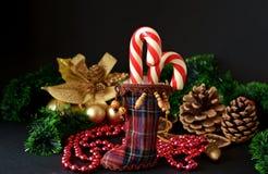 Caramelo de la Navidad imagen de archivo