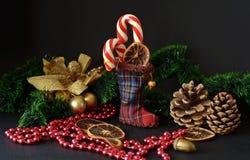 Caramelo de la Navidad imagenes de archivo
