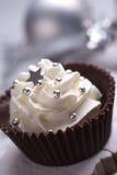 Caramelo de la Navidad con crema Foto de archivo