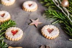 Caramelo de la Navidad, galletas Foto de archivo