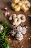 Caramelo de la Navidad, galletas Fotografía de archivo