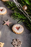 Caramelo de la Navidad, galletas Fotografía de archivo libre de regalías
